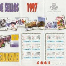 Selos: ESPAÑA. FOLLETO EMISIONES DE SELLOS 1997. SERVICIO FILATÉLICO. Lote 227024160