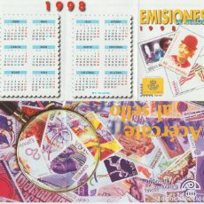 Selos: ESPAÑA. FOLLETO EMISIONES DE SELLOS 1998. SERVICIO FILATÉLICO. Lote 227024295