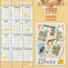 Selos: ESPAÑA. FOLLETO EMISIONES DE SELLOS 1999. SERVICIO FILATÉLICO. Lote 227024360
