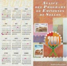 Selos: ESPAÑA. FOLLETO EMISIONES DE SELLOS 2001. SERVICIO FILATÉLICO. Lote 227024560