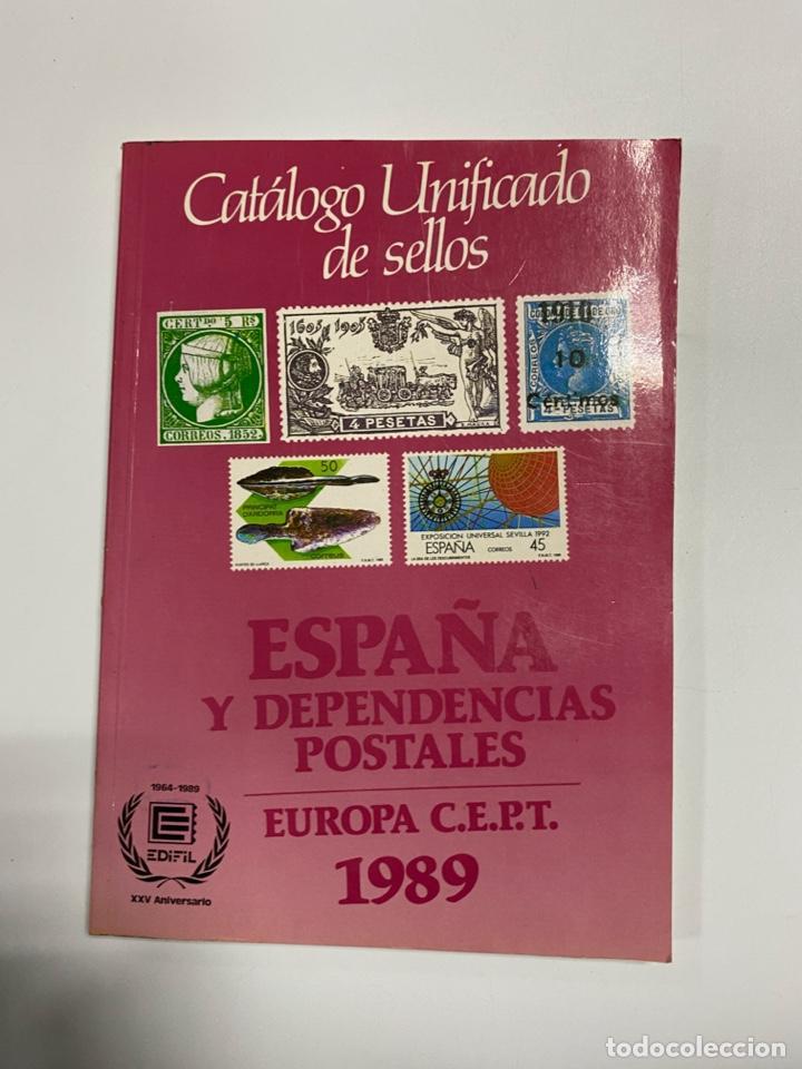 ESPAÑA Y DEPENDENCIAS POSTALES. EUROPA C.E.P.T 1989. CATÁLOGO UNIFICADO DE SELLOS. EDIFIL. PAGS:248 (Filatelia - Sellos - Catálogos y Libros)
