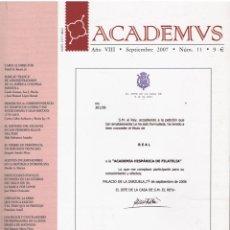 Sellos: ACADEMVS SEP.2007 Nº 11. Lote 233573865