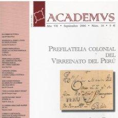 Sellos: ACADEMVS SEP.2006 Nº 10. Lote 233576120