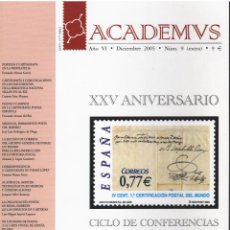 Sellos: ACADAMVS DIC.2005 Nº 9 (EXTRA). Lote 233578065