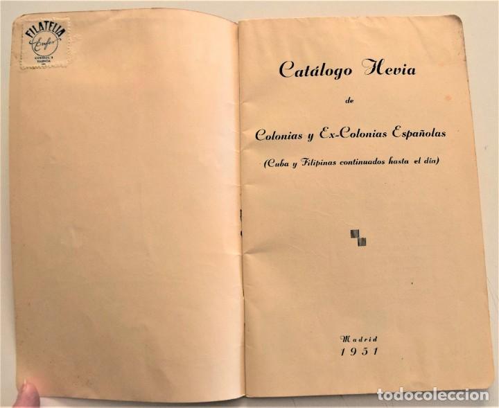 Sellos: HEVIA - CATÁLOGO DE COLONIAS Y EX-COLONIAS ESPAÑOLAS - AÑO 1951 - ABUNDANTES ILUSTRACIONES - Foto 3 - 236488230