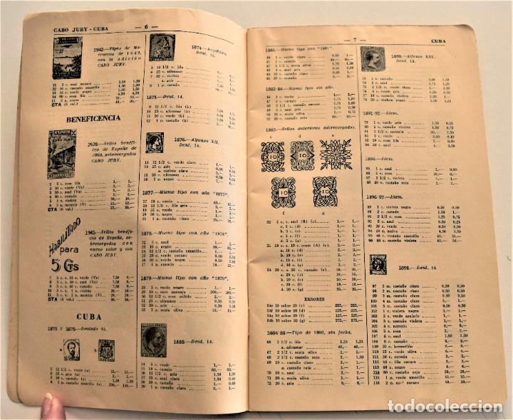 Sellos: HEVIA - CATÁLOGO DE COLONIAS Y EX-COLONIAS ESPAÑOLAS - AÑO 1951 - ABUNDANTES ILUSTRACIONES - Foto 4 - 236488230