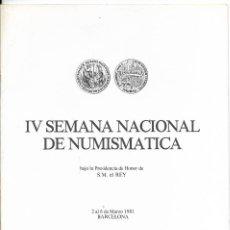 Selos: IV SEMANA NACIONAL DE NUMISMATICA, BARCELONA 1981. Lote 237952870