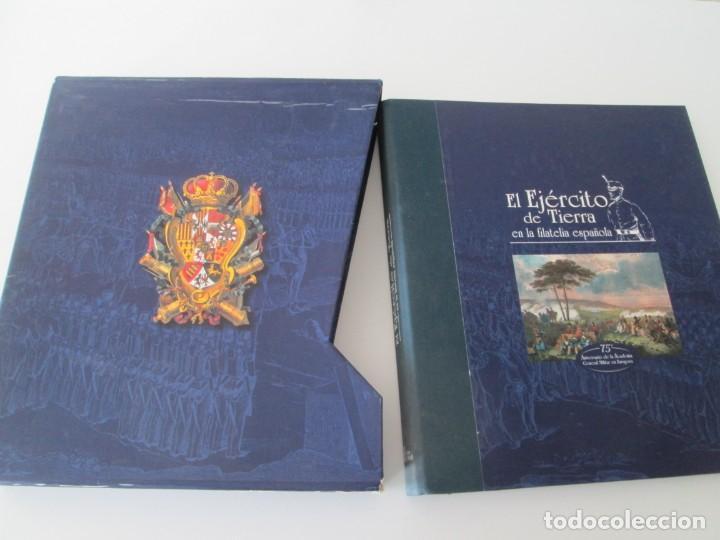 ER * EL EJÉRCITO DE TIERRA EN LA FILATELIA ESPAÑOLA 1927-2002 – CORREOS * ACADEMIA GENERAL. (Filatelia - Sellos - Catálogos y Libros)