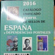 Sellos: CATÁLOGO UNIFICADO EDIFIL SELLOS ESPAÑA Y DEPENDENCIAS POSTALES 2016 - SEMI NUEVO. Lote 244984685