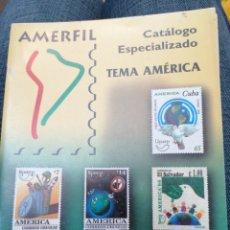 Sellos: AMERFIL CATÁLOGO ESPECIALIZADO TEMA AMÉRICA UPAEP 1989 - 2000 SEMI NUEVO. Lote 244988285