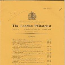 Sellos: THE LONDON PHILATELIST. 1989 AÑO COMPLETO. 1153-1164. REVISTA. FILATELICA. Lote 245096585