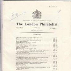 Sellos: THE LONDON PHILATELIST. 1990 AÑO COMPLETO. NÚMEROS 1165-1176. REVISTA. FILATELICA. Lote 245097415
