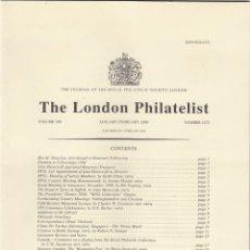 Sellos: THE LONDON PHILATELIST. 2000 AÑO COMPLETO. NÚMEROS 1272-1281. REVISTA. FILATELICA. Lote 245098105