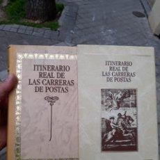 Sellos: LIBRO ITINERARIO REAL DE LAS CARRERAS DE POSTAS.NUEVO. Lote 246165995