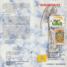 Selos: ESPAÑA. BOLETÍN-FOLLETO-INFORMACIÓN Nº 21/93. NAVIDAD'93. ESPAÑA 3273/74.. Lote 226927065