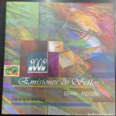 Selos: LIBRO DE CORREOS DE ESPAÑA Y ANDORRA 2002. Lote 251344000