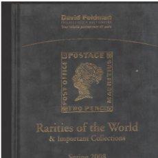 Francobolli: DAVID FELDMAN SUBASTA DE RARITIES OF THE WORLD Y IMPORTANT COLLECTIONS 2008. Lote 252999635