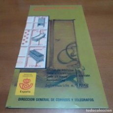 Sellos: FOLLETO INFORMACION Nº 12/91 ARTESANIA ESPAÑOLA MUEBLES 9-9-91. Lote 254747330