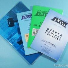 Sellos: LOTE 4 CATALOGOS EXPO GALERIA FILATELIA Y NUMISMATICA, VER DESCRIPCION, SUBASTAS. Lote 254983705