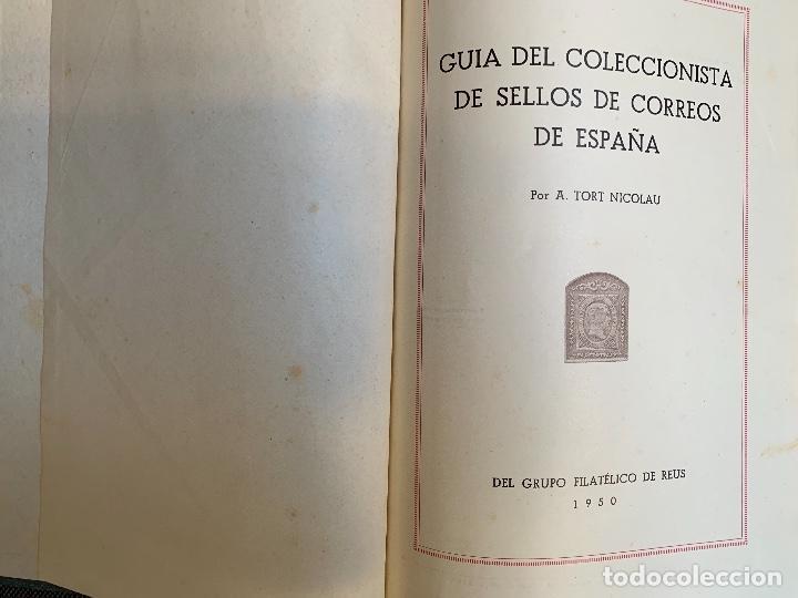 Sellos: TORT, A. GUIA DEL COLECCIONISTA DEL SELLO DE CORREOS. ESPAÑA TOMO III.1870-1900. - Foto 3 - 254990200