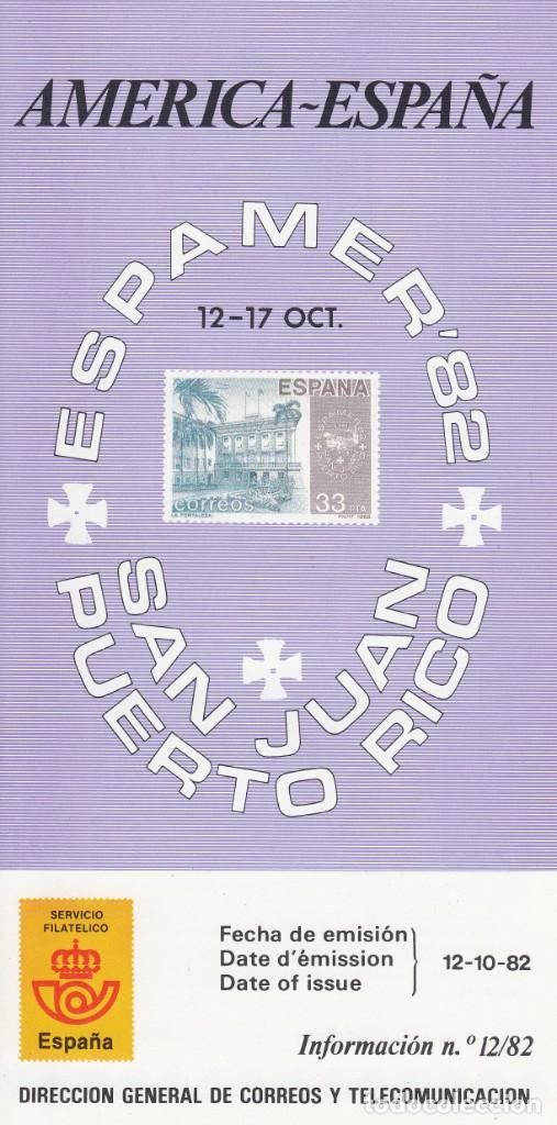 SERVICIO FILATELICO CORREOS ESPAÑA 1982: AMERICA - ESPAÑA / ESPAMER - SAN JUAN PUERTO RICO (Filatelia - Sellos - Catálogos y Libros)