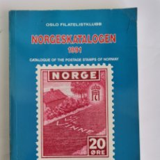 Sellos: CATALOGUE OF THE POSTAGE STAMPS OF NORWAY 1991 NORGESKATALOGEN OSLO FILATELISTKLUBB. Lote 260829835