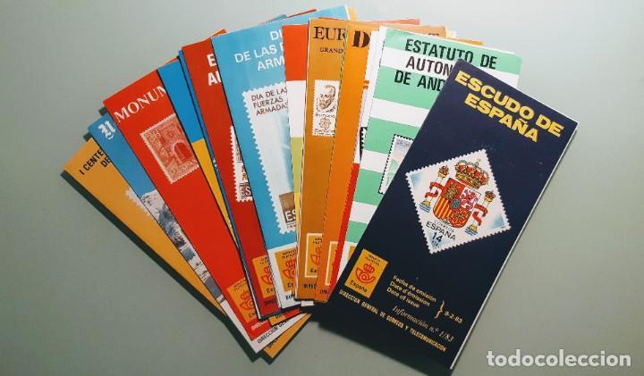 FOLLETOS INFORMATIVOS SERVICIO FILATÉLICO DE CORREOS AÑO 1983. LOTE. (Filatelia - Sellos - Catálogos y Libros)