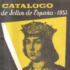 Selos: CATALOGO DE SELLOS DE ESPAÑA. HEVIA, 1953. A-FILAT-082. Lote 261250070