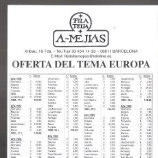 Sellos: FILATELIA A-MEJIAS. OFERTA DEL TEMA EUROPA.17X12CM. 12 PAGS.. Lote 261969430