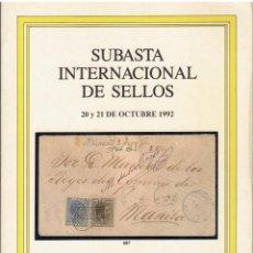 Sellos: SOLER.SUBASTA INTERNACIONAL FILIPINAS,MARIANAS,CAROLINAS Y TERRITORIOS ESPAÑOLES DEL NORTE DE AFRICA. Lote 261983790