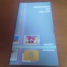 Sellos: FOLLETO EMISION DE SELLOS 1995 SERVICIO FILATELICO ESPAÑA. Lote 262265400