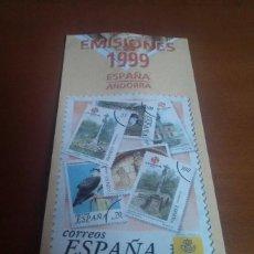 Sellos: FOLLETO EMISION DE SELLOS 1999 SERVICIO FILATELICO ESPAÑA. Lote 262265700