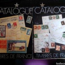 Sellos: YVERT ET TELLIER. LOTE DE DOS CATÁLOGOS ESPECIALIZADOS. HASTA 1943. EN FRANCÉS.. Lote 264528159