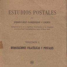Francobolli: ESTUDIOS POSTALES FC CARRERAS Y CANDI.LOS CORREOS CARLISTAS.FRANQUICIAS MILITARES, USADAS EN MÉJICO,. Lote 267099959