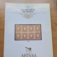 Sellos: FILATELIA - CATALOGO SUBASTA - AFINSA - PORTUGAL - 30 NOVIEMBRE 1996 - SELLOS E HISTORIA POSTAL. Lote 271826108