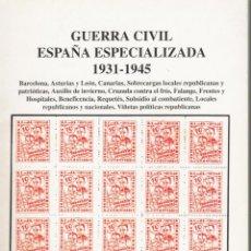 Sellos: GUERRA CIVIL 2 CATÁLOGOS DE VENTA ESTUDIO FILATELICO,SEVILLA Y FILATELIA LLACH. Lote 272727163