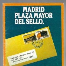 Sellos: 806- PLAZA MAYOR PROGRAMA OFICIAL XI FERIA NACIONAL DEL SELLO DE 1.978 DE MADRID. Lote 278502043