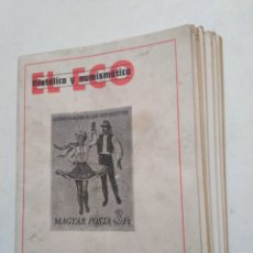 Sellos: LOTE DE 7 REVISTAS EL ECO FILATELICA Y NUMISMATICA ( AÑO 1977 ). Lote 283783073