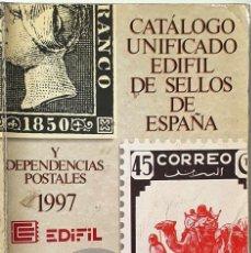 Francobolli: CATALOGO UNFICADO EDIFIL DE SELLOS DE ESPAÑA Y DEPENDENCIAS POSTALES. 1997.. Lote 287063693