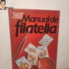 Sellos: MANUAL DE FILATELIA - AUTOR ALEJANDRO FABREGAS ELIZONDO - AÑO 1978. Lote 288930218
