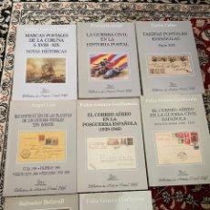 Sellos: BIBLIOTECA DE HISTORIA POSTAL EDIFIL LOTE 8 TOMOS. Lote 290041213