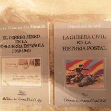 """Francobolli: LOTE DE 2 LIBROS """"CORREO AÉREO POSGUERRA ESPAÑOLA"""" Y """" LA GUERRA CIVIL EN LA HISTORIA POSTAL"""". Lote 290260888"""