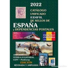 Sellos: CATÁLOGO EDIFIL SELLOS DE ESPAÑA Y DEPENDENCIAS POSTALES. EDICIÓN 2022. TAPAS DURAS.. Lote 290524703