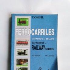 Sellos: DOMFIL FERROCARRILES CATÁLOGO DE SELLOS RAILWAY STAMPS TIMBRES. Lote 291992458