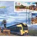 Sellos: CHILE 2001.- SOBRE PRIMER DIA.- FERROCARRILES DE CHILE. Lote 26285096