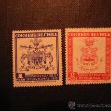 Francobolli: Nº YVERT 251/2** AÑO 1955 EXPOSICION FILATELICA INTERNACIONAL, EN VALPARAISO. Lote 10090143