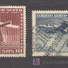 Sellos: CHILE, AVIONES, 2 SELLOS USADOS. Lote 18558958