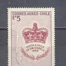 Sellos: CHILE, 1968, VISITA A CHILE DE S. M. ISABEL II. Lote 27713275