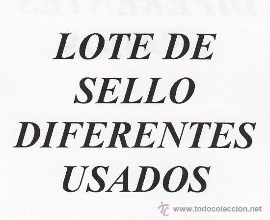 .LOTE CHILE DE 25 SELLOS DIFERENTES USADOS (Sellos - Extranjero - América - Chile)