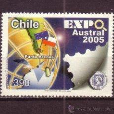 Sellos: CHILE 1697 - AÑO 2005 - EXPOSICION FILATELICA EXPO AUSTRAL 2005. Lote 33394367